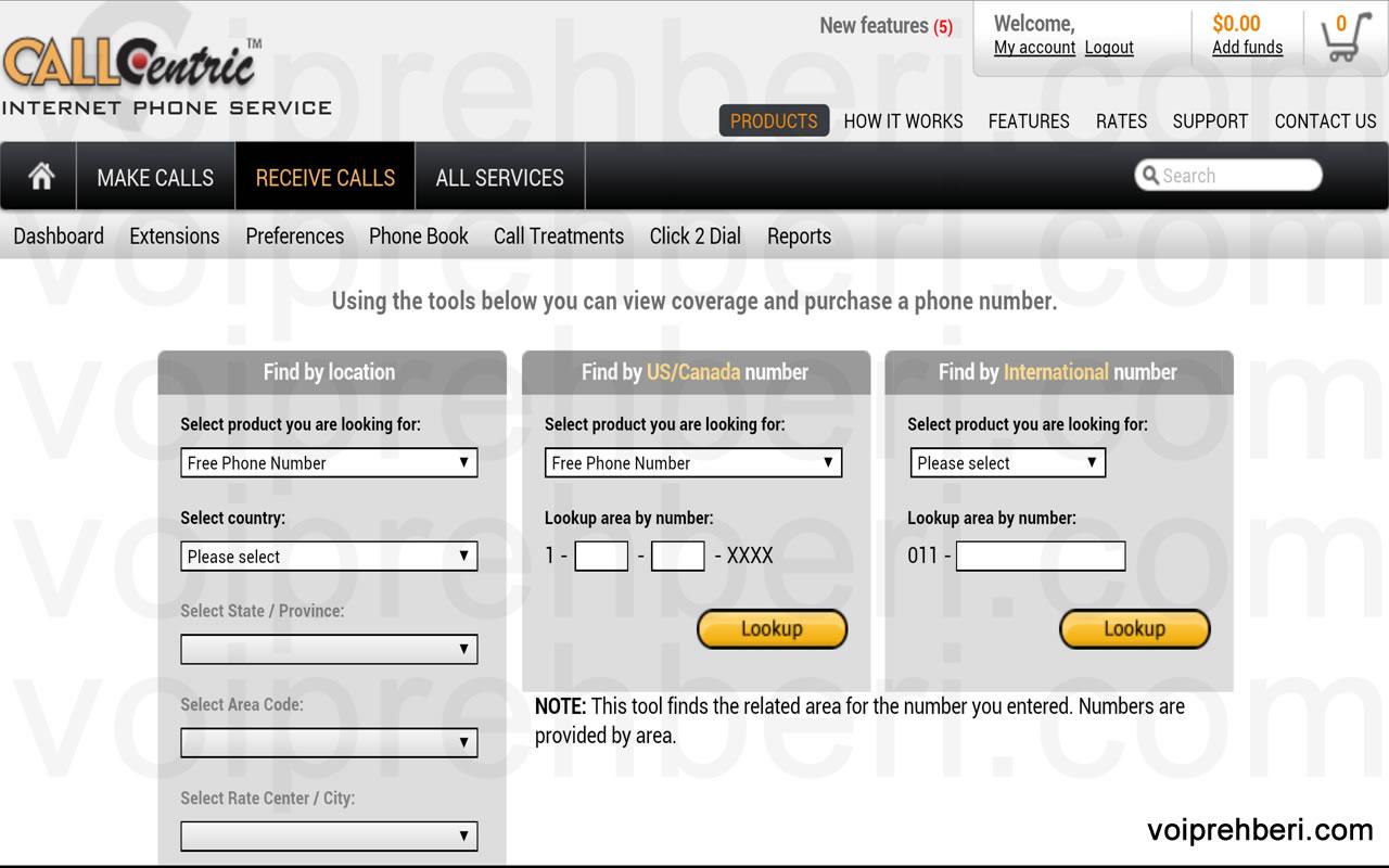 Callcentric.com'dan Ücretsiz Amerikan DID Numarası Almak
